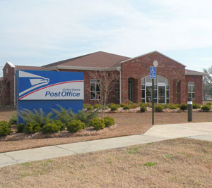 The US Post Office is located North of 300 Davis, just across the railroad tracks.