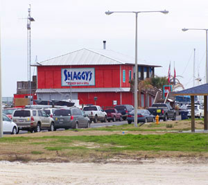 Shaggy's Harbor Restaurant is a Pass Christian favorite, and located 5 minutes south of 300 Davis